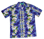 Hawaiian Shirt Ginger Purple